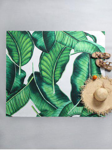 Outfit Leaf Print Rectangle Beach Throw