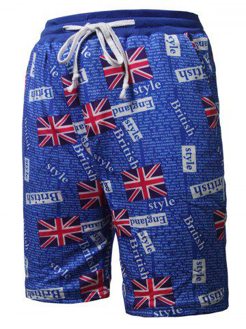 Trendy Allover Union Flag Pattern Beach Shorts