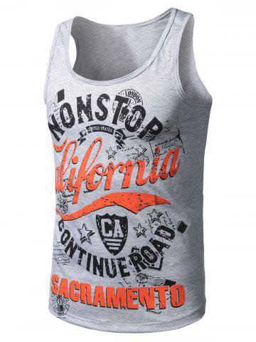 Best Graphic Print Cotton Blends Tank Top