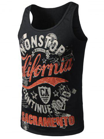 Fancy Graphic Print Cotton Blends Tank Top