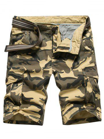 Latest Casual Multi-pocket Camo Shorts