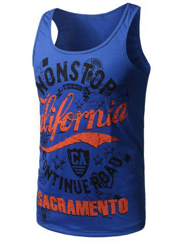 Outfits Graphic Print Cotton Blends Tank Top