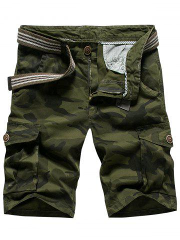Outfit Casual Multi-pocket Camo Shorts