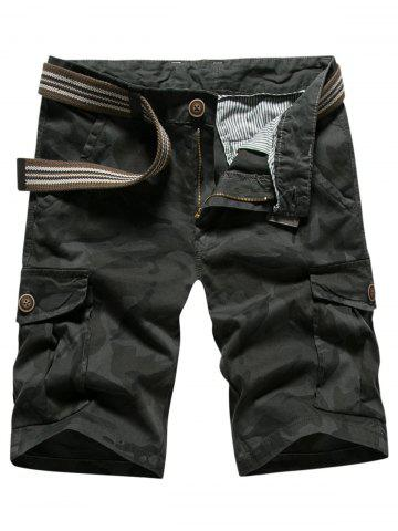 Fashion Casual Multi-pocket Camo Shorts