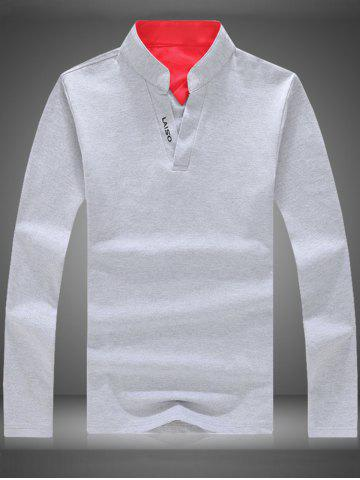 Buy Graphic Long Sleeve Polo T-shirt