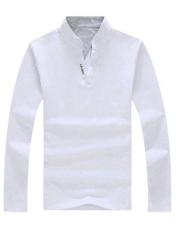 Trendy Graphic Long Sleeve Polo T-shirt