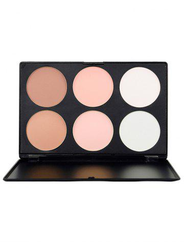 New 6 Colors Highlight Face Bronzing Powder Palette
