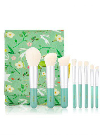 Unique 8Pcs Makeup Brushes Set with Flower Animal Printed Brush Bag