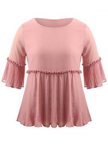 Shops Plus Size Pleated Ruffle Blouse