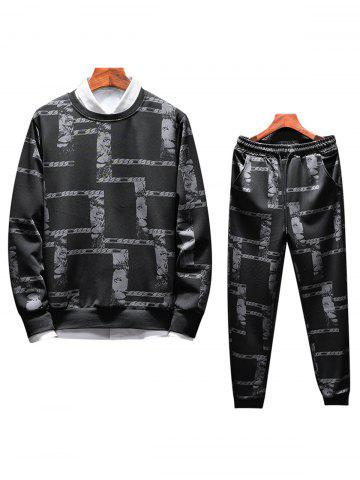 Unique Printed Sweatshirt Twinset