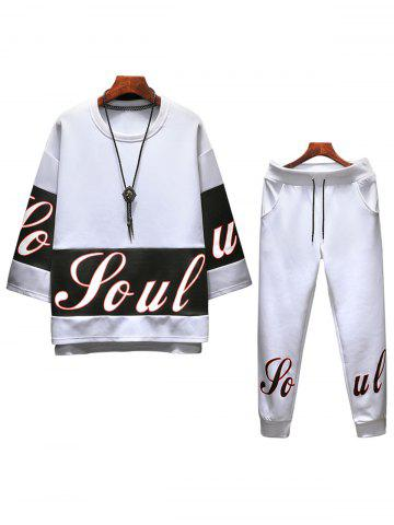 Outfits Crew Neck Sweatshirt and Sweatpants Twinset