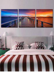 Seaside Bridge Print Home Decor Wall Art Painting -