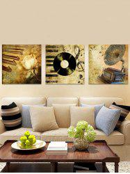 Retro Music Record Printed Frameless Canvas Paintings -