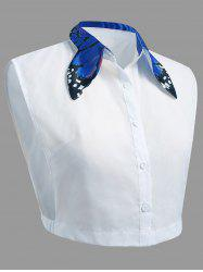 Plus Size Butterfly Collar False Shirt Detachable Collar -