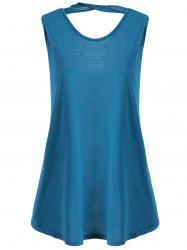 Cutout Plus Size Summer Tank Top -