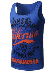 Graphic Print Cotton Blends Tank Top -