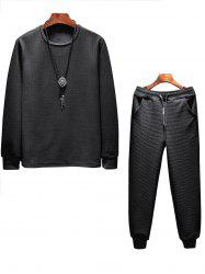 Ensemble Sweat-Shirt Motif Ondulé -
