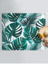Leaf Printed Rectangle Beach Throw -