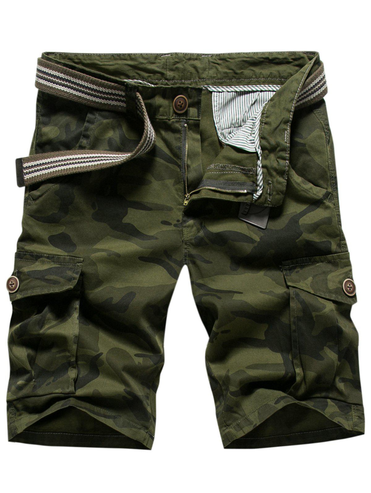 Shop Casual Multi-pocket Camo Shorts