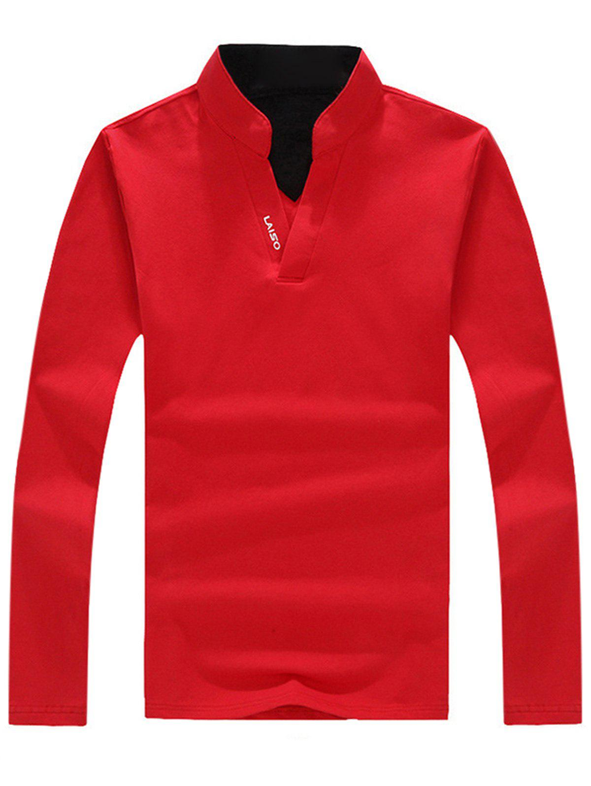 Shops Graphic Long Sleeve Polo T-shirt