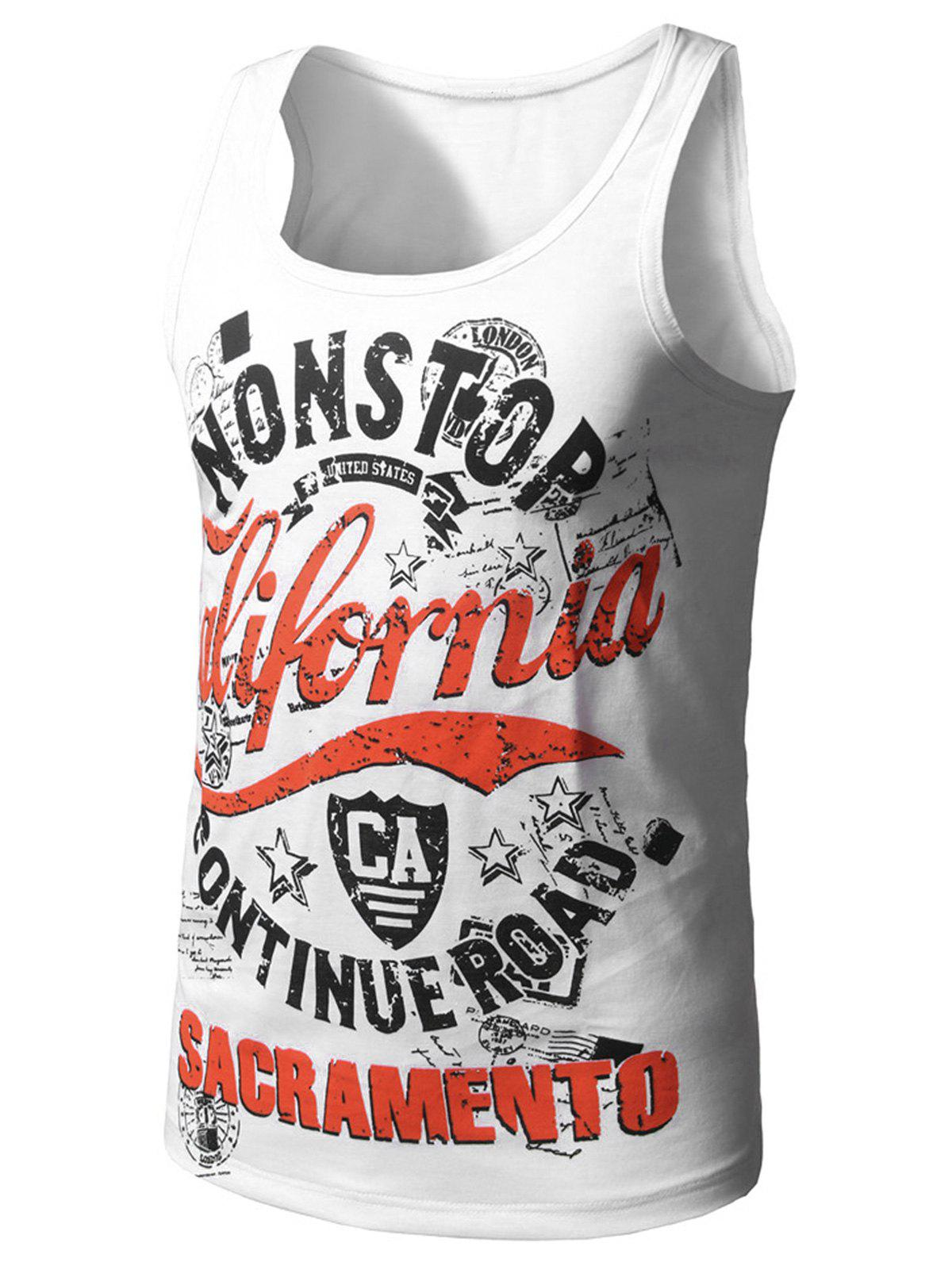 Outfit Graphic Print Cotton Blends Tank Top
