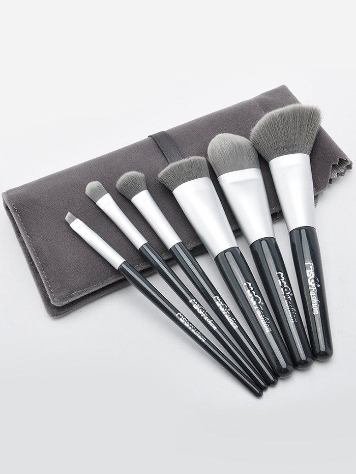 Best 6Pcs Portable Makeup Brushes Set with Brush Bag