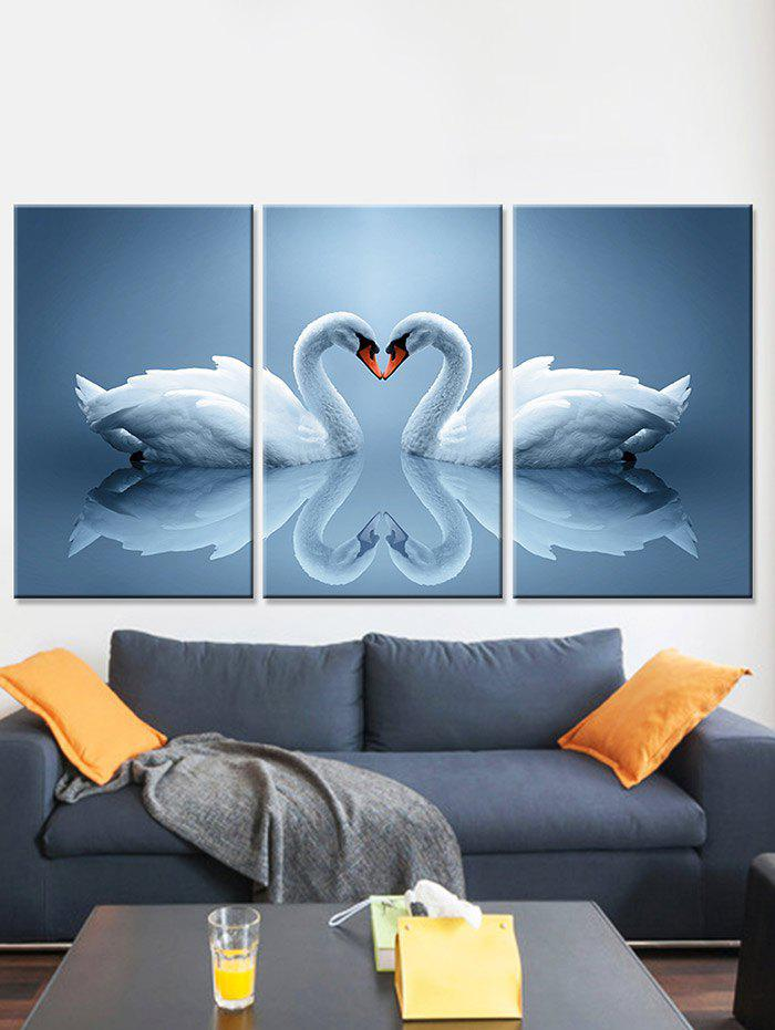 Outfits Swan Heart Print Unframed Split Canvas Paintings