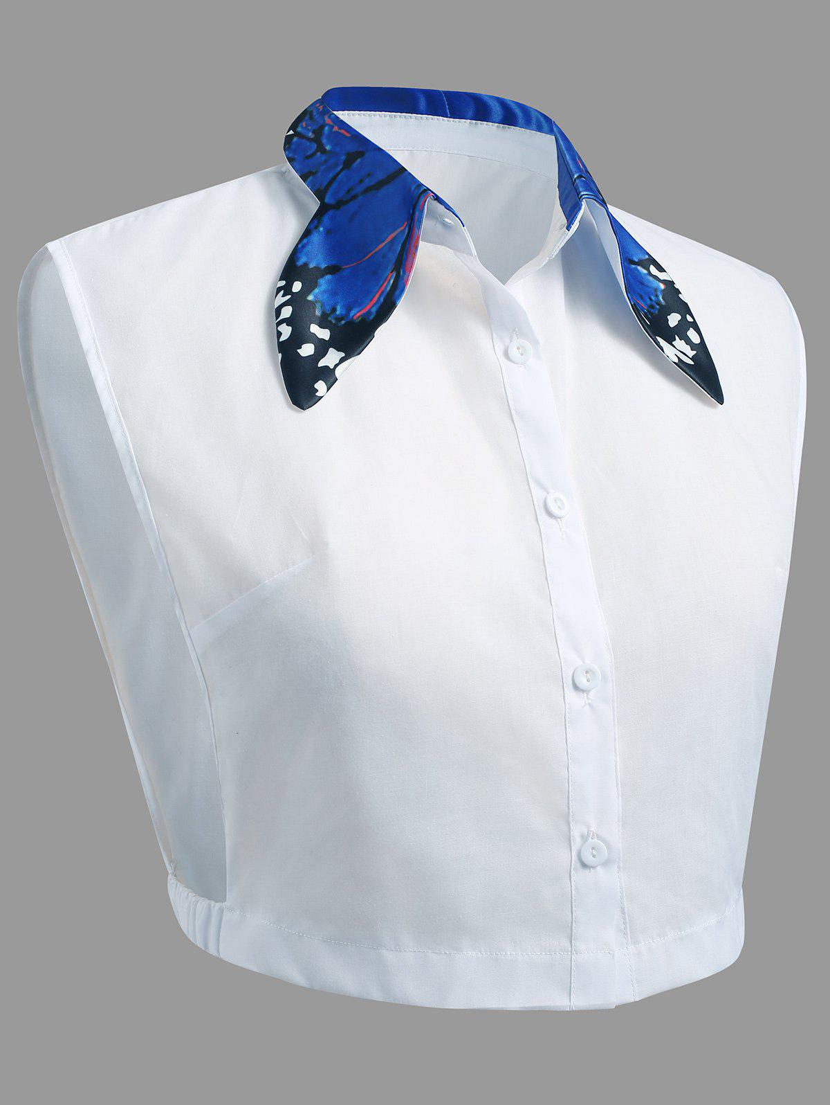 Outfits Plus Size Butterfly Collar False Shirt Detachable Collar