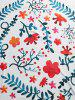 Floral Leaf Print Beach Throw -