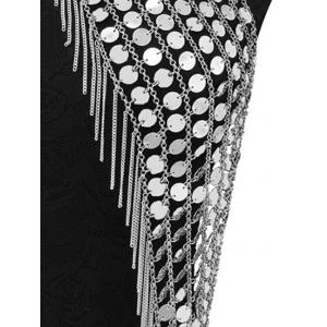 Punk Sequin Geometric Fringed Body Chain -