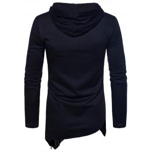 Sweat à capuche asymétrique Zip Hem -