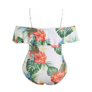 Plus Size Pineapple Print Swimsuit -