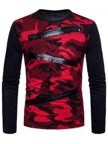 Outfits Long Sleeve Camo Pattern T-shirt