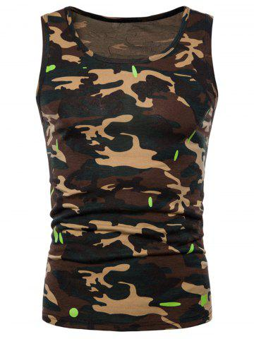 New Relaxed Fit Camo Print Tank Top