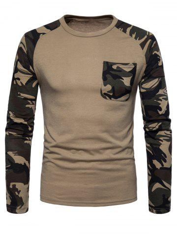 Best Pocket Camouflage Long Sleeve T-shirt