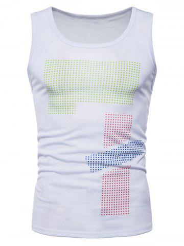 Polka Dot Relaxed Fit Tank Вверх