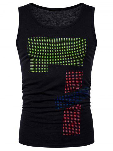 Unique Polka Dot Relaxed Fit Tank Top