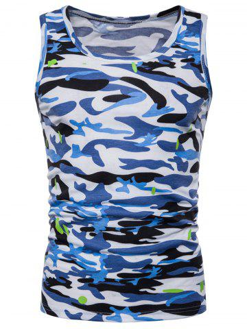 Unique Relaxed Fit Camo Print Tank Top
