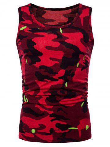 Buy Relaxed Fit Camo Print Tank Top