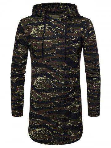 Affordable Drawstring Camouflage Hoodie