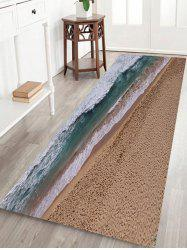 Seaside Scenery Print Anti-skid Water Absorption Area Rug -