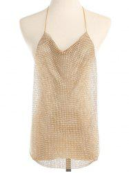 Simple Rhinestoned Halter Body Chain -