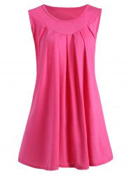 Draped Plus Size Summer Tank Top -