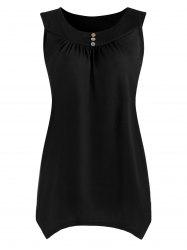 Plus Size Causal Asymmetric Sleeveless Top -