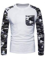 Pocket Camouflage Long Sleeve T-shirt -