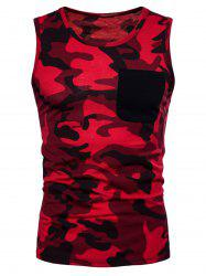 Pocket Camo Print Tank Top -