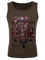 Camouflage Graphic Print Tank Top -