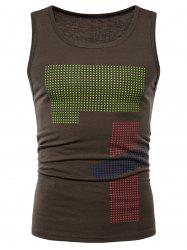 Polka Dot Relaxed Fit Tank Вверх -