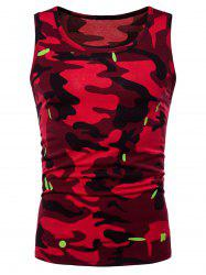 Relaxed Fit Camo Print Tank Top -