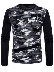 Long Sleeve Camo Pattern T-shirt -